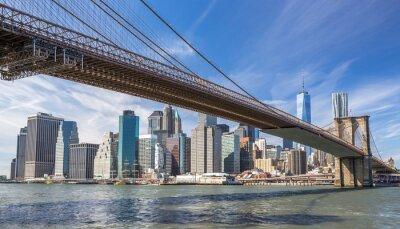 Plakat Most Brooklyn New York City Manhattan skyline