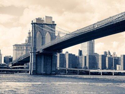 Plakat Most Brooklyn w Nowym Jorku