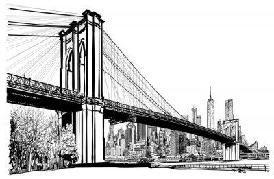Plakat Most Brooklyński w Nowym Jorku