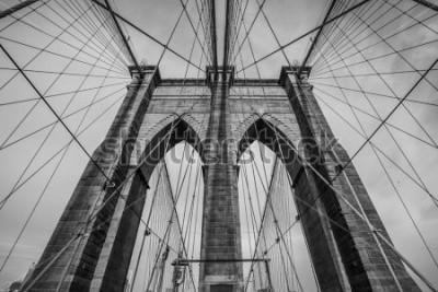Plakat Most Brooklyński w Nowym Jorku. USA.