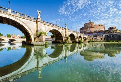 Plakat Most i Zamek Świętego Anioła, Rzym