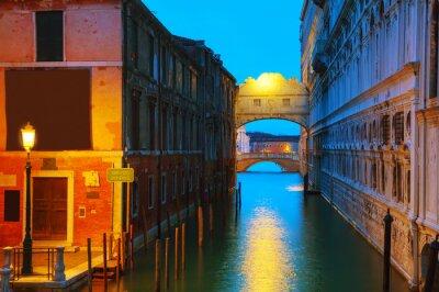 Plakat Most sig0hs w Wenecji, Włochy