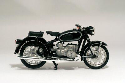 Plakat Motocicleta Antigui aislada en blanco