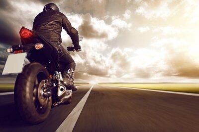 Plakat Motocykl na autostrady