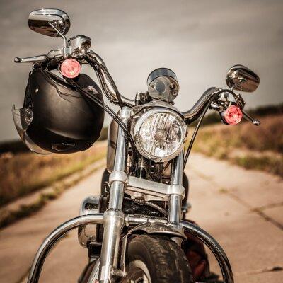 Plakat Motocykl na drodze