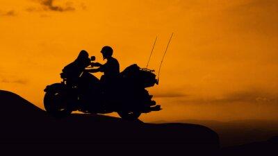 Plakat Motocykl w górach