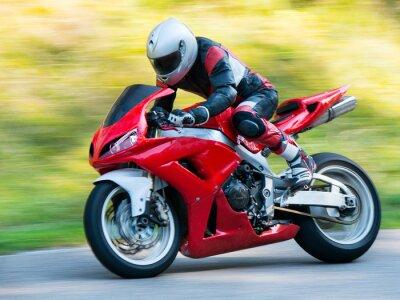 Plakat Motocykl wyścigowy