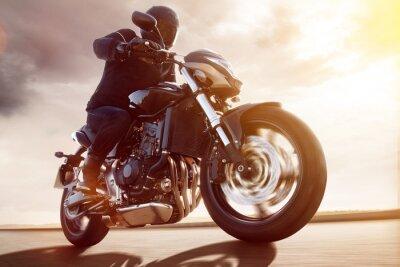 Plakat Motorbike at Sunset
