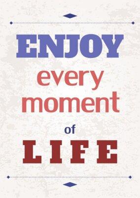 Plakat Motywacyjne Plakat - cieszyć się życiem
