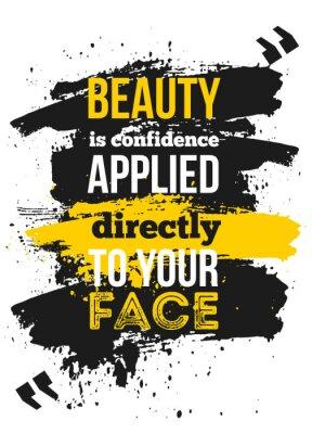 Plakat Motywacyjny cytat o wyznaniu dla businss. Kreatywny plakat na ścianę. Koncepcja Selfesteem