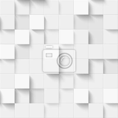 Plakat Mozaika abstrakcyjna kwadratów