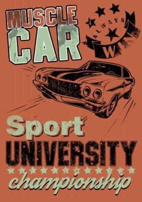 Plakat Muscle car