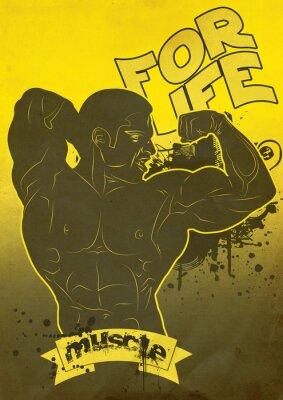 Plakat Muscle życia