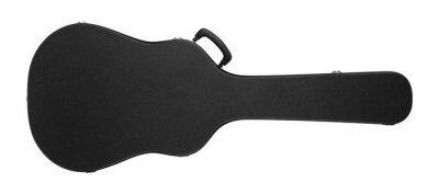 Plakat Musical instrument - Black acoustic guitar hard case. Isolated