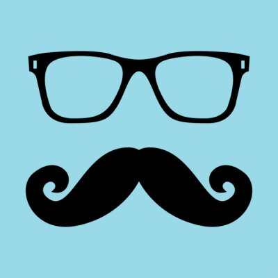 Plakat Mustache and Glasses