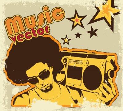Plakat Muzyka w tle