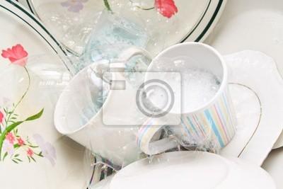 Plakat mycie naczyń