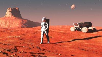 Plakat na Marsie