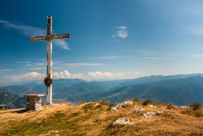 Plakat Na szczycie góry
