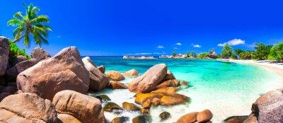 Plakat Najpiękniejsze plaże tropikalne - Seychelles, Wyspa Praslin