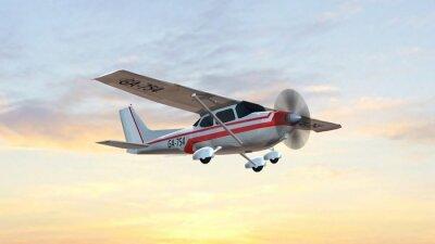 Plakat najpopularniejszy singiel śmigła lekkie samoloty latają w zachodzie słońca