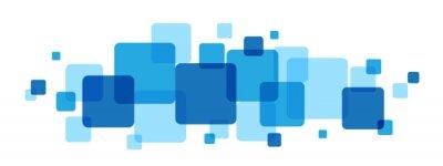 Plakat NAKŁADAJĄCYCH niebieskie kwadraty BANNER
