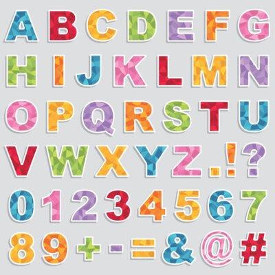 Plakat naklejki alfabetu