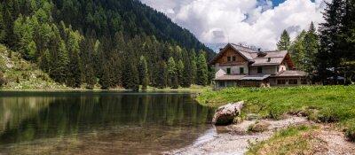 Plakat Nambino jezioro, Dolomity