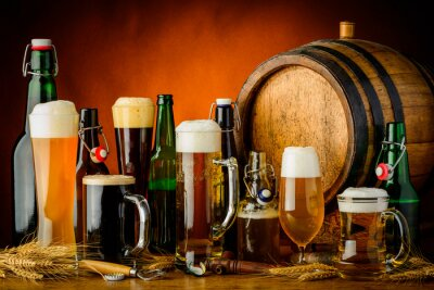 Plakat napoje piwo