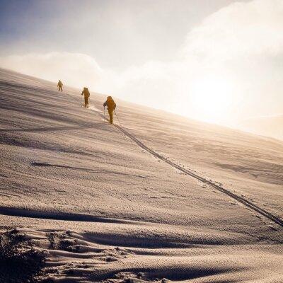 Plakat narciarskie tourers