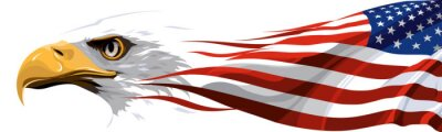 Plakat Narodowy symbol Stanów Zjednoczonych