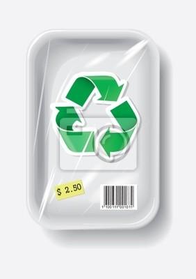 Naturalne w plastikowym pojemniku znak