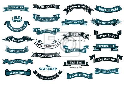 Plakat Nautical banery tematyczne
