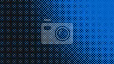 Plakat Navy blue retro pop art background with halftone dots design