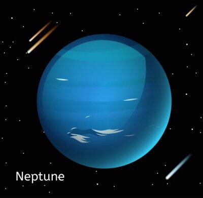 Plakat Neptune planeta ilustracji 3d wektor