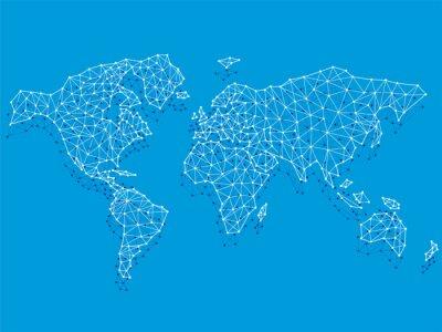 Plakat Net worldmap