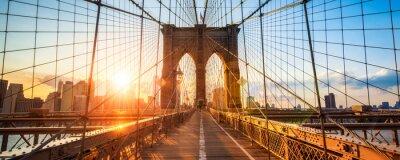 Plakat New York Brooklyn Bridge Panorama