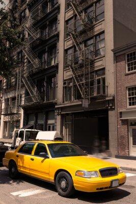 Plakat New York budynki żółta taksówka taksówki Soho NYC USA