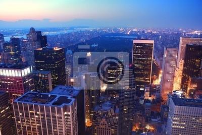 Plakat New York City Central Park na Manhattanie
