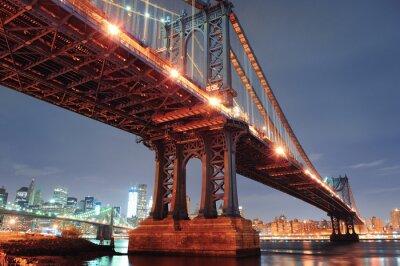 Plakat New York City Manhattan Bridge