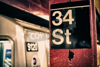 Plakat New York City Subway Szczegóły, USA