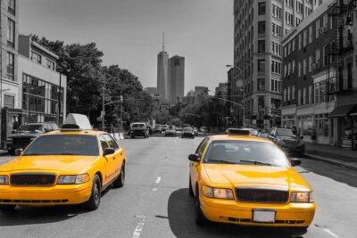 Plakat New York West Village in Manhattan yellow cab