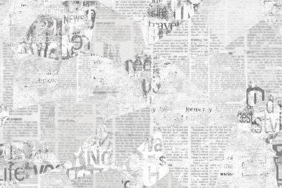 Plakat Newspaper paper grunge vintage old aged texture background