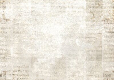 Plakat Newspaper with old grunge vintage unreadable paper texture background