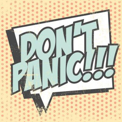 Plakat nie panikuj