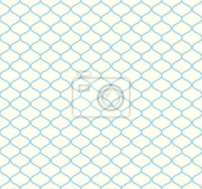 Plakat Niebieski Retro netto szwu na tle pastelowych