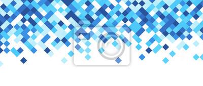 Plakat Niebieskie i białe abstrakcyjne banner.