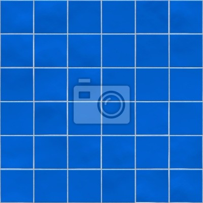 Plakat Niebieskie płytki, tekstury, tło, kuchnia, łazienka lub basen koncepcja