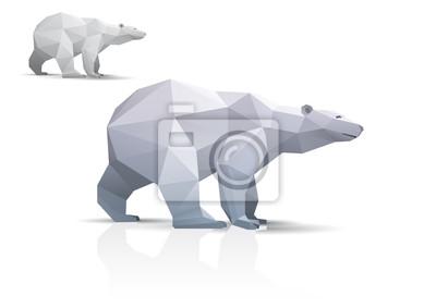 Niedźwiedź polarny stylizowane trójkąt wielokąta modelu