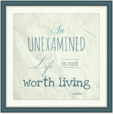 Plakat Niekwestionowanej życie nie jest warte życia